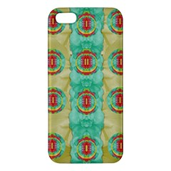 Peace Will Be In Fantasy Flowers With Love Iphone 5s/ Se Premium Hardshell Case by pepitasart