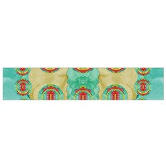 Peace Will Be In Fantasy Flowers With Love Small Flano Scarf