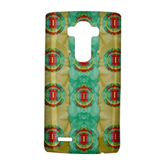 Peace Will Be In Fantasy Flowers With Love Lg G4 Hardshell Case by pepitasart
