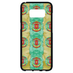 Peace Will Be In Fantasy Flowers With Love Samsung Galaxy S8 Black Seamless Case