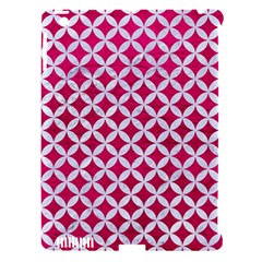 Circles3 White Marble & Pink Leather Apple Ipad 3/4 Hardshell Case (compatible With Smart Cover) by trendistuff