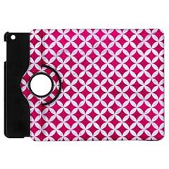 Circles3 White Marble & Pink Leather Apple Ipad Mini Flip 360 Case