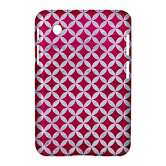 Circles3 White Marble & Pink Leather Samsung Galaxy Tab 2 (7 ) P3100 Hardshell Case