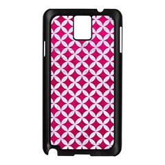 Circles3 White Marble & Pink Leather Samsung Galaxy Note 3 N9005 Case (black)