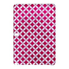 Circles3 White Marble & Pink Leather Samsung Galaxy Tab Pro 10 1 Hardshell Case