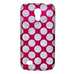 Circles2 White Marble & Pink Leather Galaxy S4 Mini