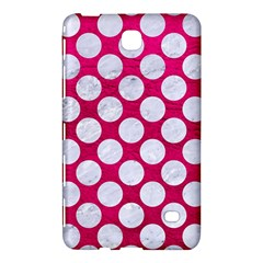 Circles2 White Marble & Pink Leather Samsung Galaxy Tab 4 (7 ) Hardshell Case