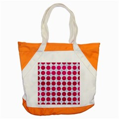 Circles1 White Marble & Pink Leather (r) Accent Tote Bag