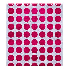Circles1 White Marble & Pink Leather (r) Shower Curtain 66  X 72  (large)