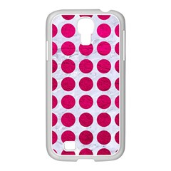 Circles1 White Marble & Pink Leather (r) Samsung Galaxy S4 I9500/ I9505 Case (white)