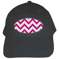 Chevron9 White Marble & Pink Leather (r) Black Cap