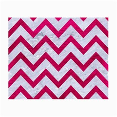 Chevron9 White Marble & Pink Leather (r) Small Glasses Cloth (2 Side)