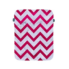 Chevron9 White Marble & Pink Leather (r) Apple Ipad 2/3/4 Protective Soft Cases