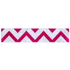 Chevron9 White Marble & Pink Leather (r) Small Flano Scarf