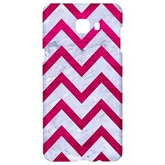Chevron9 White Marble & Pink Leather (r) Samsung C9 Pro Hardshell Case  by trendistuff