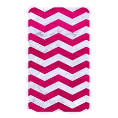 Chevron3 White Marble & Pink Leather Memory Card Reader