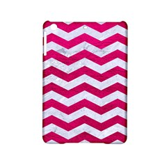 Chevron3 White Marble & Pink Leather Ipad Mini 2 Hardshell Cases