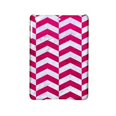 Chevron2 White Marble & Pink Leather Ipad Mini 2 Hardshell Cases by trendistuff
