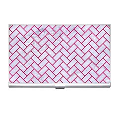 Brick2 White Marble & Pink Leather (r) Business Card Holders