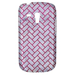 Brick2 White Marble & Pink Leather (r) Galaxy S3 Mini