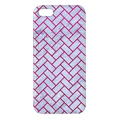 Brick2 White Marble & Pink Leather (r) Iphone 5s/ Se Premium Hardshell Case by trendistuff