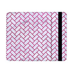 Brick2 White Marble & Pink Leather (r) Samsung Galaxy Tab Pro 8 4  Flip Case by trendistuff