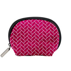 Brick2 White Marble & Pink Leather Accessory Pouches (small)