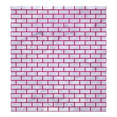 Brick1 White Marble & Pink Leather (r) Shower Curtain 66  X 72  (large)  by trendistuff
