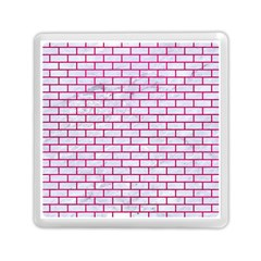 Brick1 White Marble & Pink Leather (r) Memory Card Reader (square)