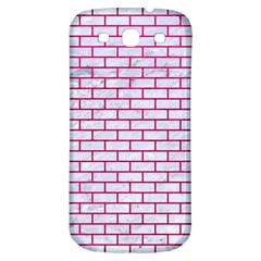 Brick1 White Marble & Pink Leather (r) Samsung Galaxy S3 S Iii Classic Hardshell Back Case