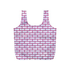 Brick1 White Marble & Pink Leather (r) Full Print Recycle Bags (s)