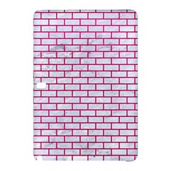 Brick1 White Marble & Pink Leather (r) Samsung Galaxy Tab Pro 10 1 Hardshell Case