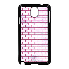 Brick1 White Marble & Pink Leather (r) Samsung Galaxy Note 3 Neo Hardshell Case (black) by trendistuff