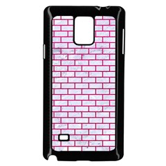 Brick1 White Marble & Pink Leather (r) Samsung Galaxy Note 4 Case (black)