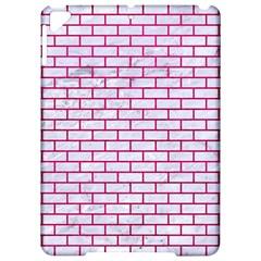Brick1 White Marble & Pink Leather (r) Apple Ipad Pro 9 7   Hardshell Case