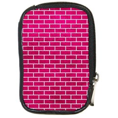 Brick1 White Marble & Pink Leather Compact Camera Cases