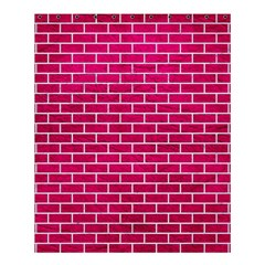 Brick1 White Marble & Pink Leather Shower Curtain 60  X 72  (medium)