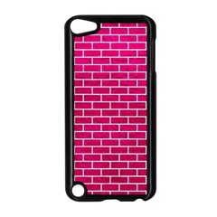 Brick1 White Marble & Pink Leather Apple Ipod Touch 5 Case (black)