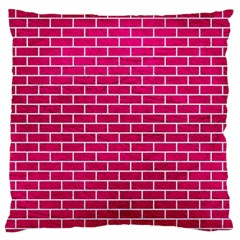 Brick1 White Marble & Pink Leather Standard Flano Cushion Case (one Side)
