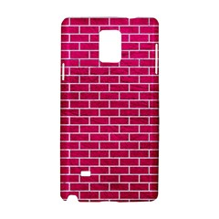 Brick1 White Marble & Pink Leather Samsung Galaxy Note 4 Hardshell Case