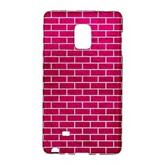 Brick1 White Marble & Pink Leather Galaxy Note Edge by trendistuff