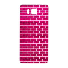 Brick1 White Marble & Pink Leather Samsung Galaxy Alpha Hardshell Back Case by trendistuff
