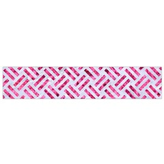 Woven2 White Marble & Pink Marble (r) Small Flano Scarf