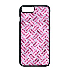 Woven2 White Marble & Pink Marble (r) Apple Iphone 7 Plus Seamless Case (black)