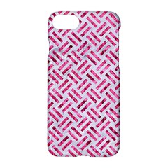 Woven2 White Marble & Pink Marble (r) Apple Iphone 8 Hardshell Case