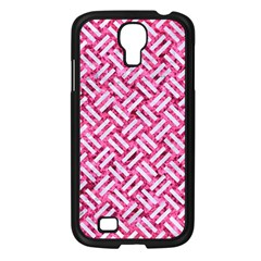 Woven2 White Marble & Pink Marble Samsung Galaxy S4 I9500/ I9505 Case (black) by trendistuff