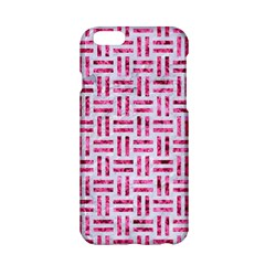 Woven1 White Marble & Pink Marble (r) Apple Iphone 6/6s Hardshell Case