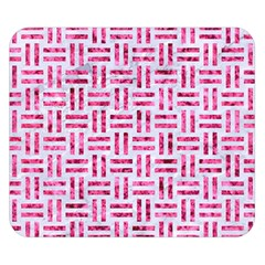 Woven1 White Marble & Pink Marble (r) Double Sided Flano Blanket (small)  by trendistuff