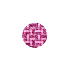 Woven1 White Marble & Pink Marble 1  Mini Magnets by trendistuff
