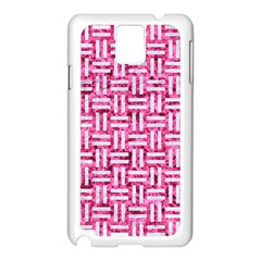 Woven1 White Marble & Pink Marble Samsung Galaxy Note 3 N9005 Case (white)